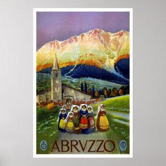 "Vintages Reise-Plakat ""Abruzzos, Italien"""