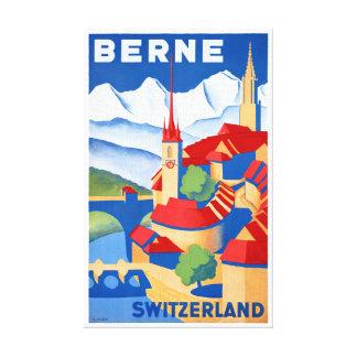 Vintages Reise-Plakat Berns die Schweiz wieder Leinwand Druck