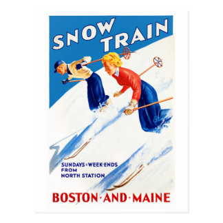 Vintages Reise-Plakat Bostons Maine wieder Postkarte