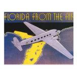 Vintages Reise-Plakat, Florida vom Luft-Flugzeug Postkarten