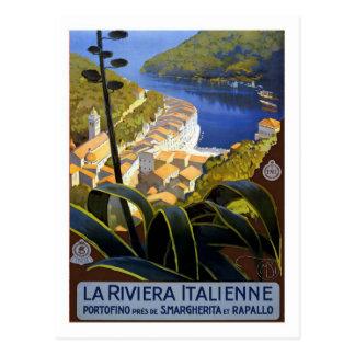 Vintages Reise-Plakat, Italiener Riviera Postkarte