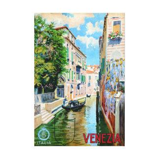 Vintages Reise-Plakat Italiens Venedig wieder Leinwanddruck