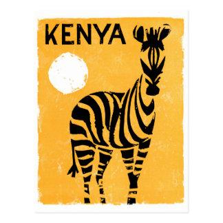 Vintages Reise-Plakat Kenias Afrika wieder Postkarte