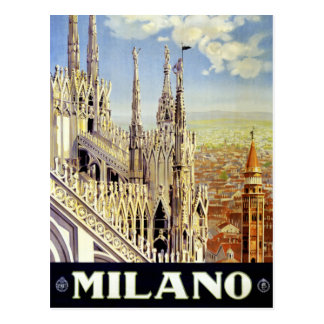 Vintages Reise-Plakat Mailands Italien wieder Postkarte