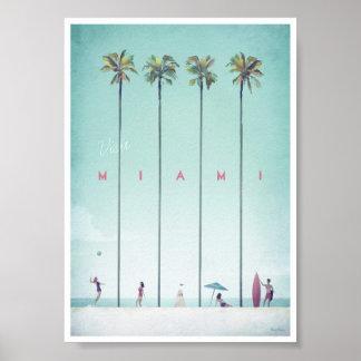 Vintages Reise-Plakat Miamis Poster