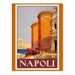 """Vintages Reise-Plakat """"Neapels"""" Postkarte"""