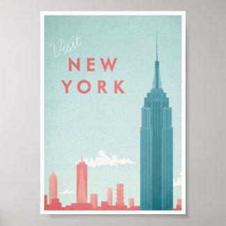Vintages Reise-Plakat New York Poster