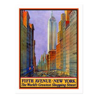 Vintages Reise-Plakat, New York Postkarte