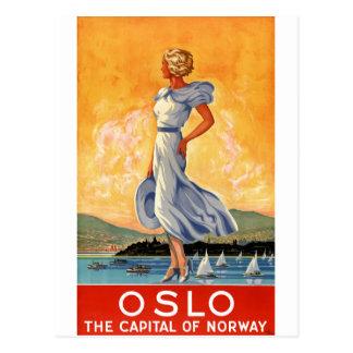 Vintages Reise-Plakat Oslos Norwegen wieder Postkarten