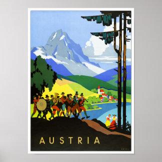 Vintages Reise-Plakat Österreichs Poster