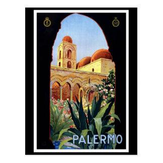 "Vintages Reise-Plakat ""Palermos"" Postkarte"
