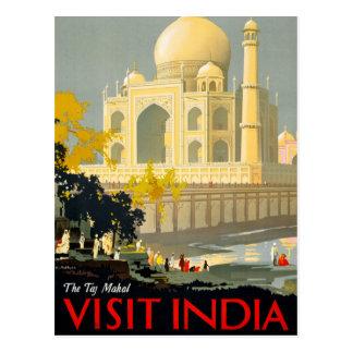 Vintages Reise-Plakat Restor Taj Mahal Postkarte