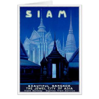 Vintages Reise-Plakat Siams Thailand wieder Karte