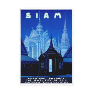 Vintages Reise-Plakat Siams Thailand wieder Leinwanddruck