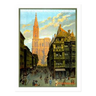 Vintages Reise-Plakat, Straßburg Postkarten