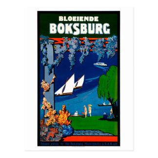 Vintages Reise-Plakat Südafrikas Boksburg Postkarte