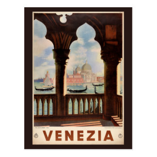 Vintages Reise-Plakat Venedigs Venezia wieder Postkarte