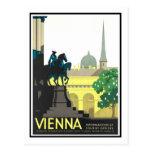 Vintages Reise-Plakat, Wien Postkarte