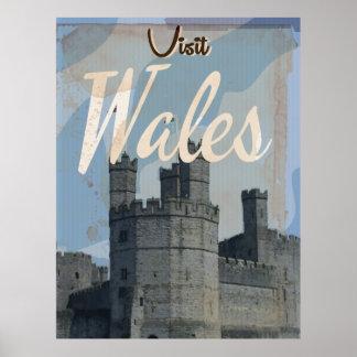 Vintages Reiseplakat Wales Poster