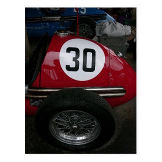 Vintages Rennen-Auto-Detail Postkarte