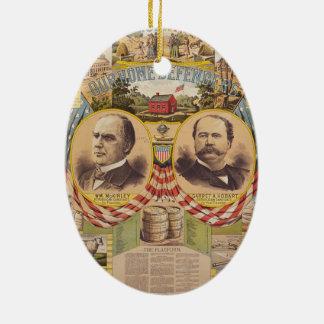 Vintages republikanisches keramik ornament