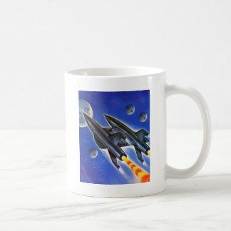 Vintages Retro drei Erde Sci FI Raumschiff ' Tasse