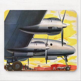 Vintages Retro Kitsch-Stütze-Flugzeug-60er Mousepad