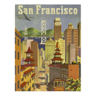 Vintages retro Reiseplakat San Francisco USA Postkarte