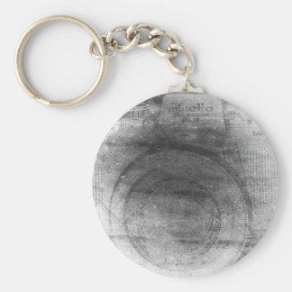 Vintages retro träumerisches Grau beunruhigte Schlüsselanhänger