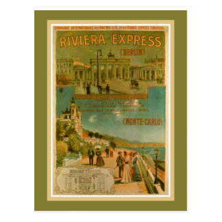 Vintages Riviera Eilberlin Nizza Amsterdam Postkarte