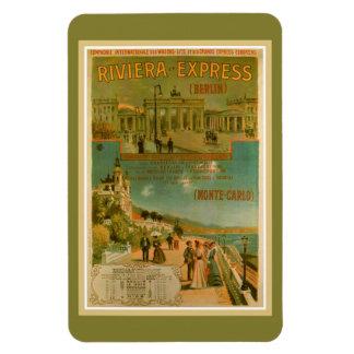Vintages Riviera Eilberlin Nizza Amsterdam Rechteckiger Fotomagnet