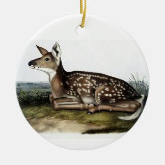 Vintages Rotwild-Nr. 1 Keramik Ornament