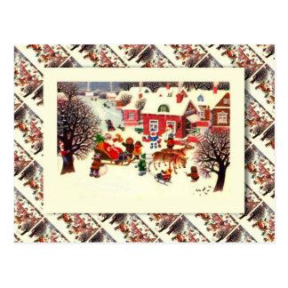russisches vintages weihnachten gru karten einladungen. Black Bedroom Furniture Sets. Home Design Ideas