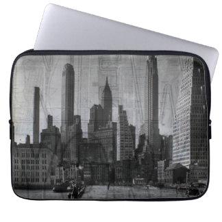 Vintages Schwarzweiss-New York City Laptop Sleeve