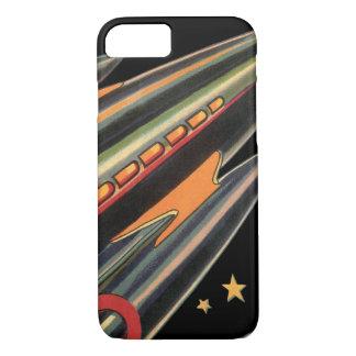 Vintages Science Fiction-Rocket-Schiff durch iPhone 8/7 Hülle