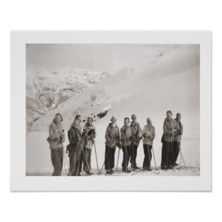 Vintages Ski iamge, Damen auf Skis Poster