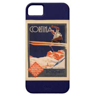 Vintages Ski-Plakat, SkiCortina, Italien Schutzhülle Fürs iPhone 5