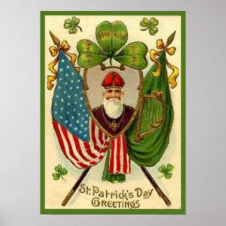 Vintages St Patrick Tagesplakat Poster