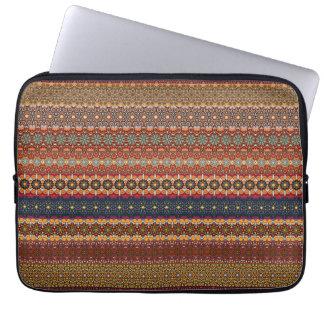 Vintages Stammes- aztekisches Muster Laptop Sleeve
