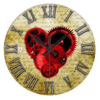Vintages Steampunk Herz No.2 Uhren