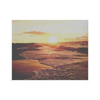 Vintages Strand-Foto Leinwanddruck