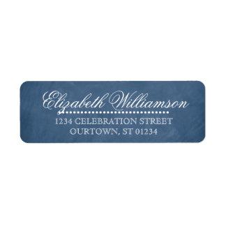 Vintages Tafel-Adressen-Etikett