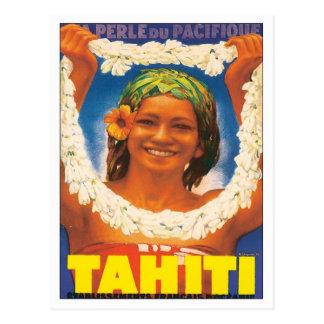 Vintages Tahiti Postkarte