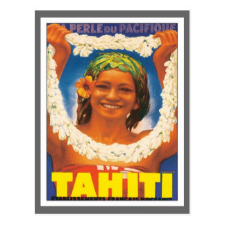 Vintages Tahiti Postkarten