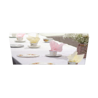 Vintages Tee-Party Leinwanddruck