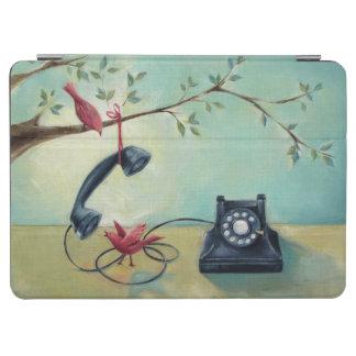 Vintages Telefon- u. Vogel-iPad Air-Abdeckung iPad Air Hülle