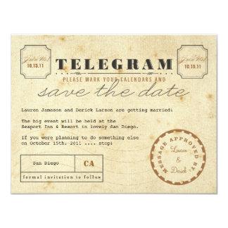 Vintages Telegramm Save the Date 10,8 X 14 Cm Einladungskarte