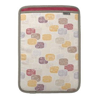 Vintages trendy abstraktes Pastellblumen MacBook Sleeve