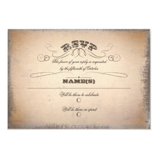 Vintages Typografie UAWG 8,9 X 12,7 Cm Einladungskarte