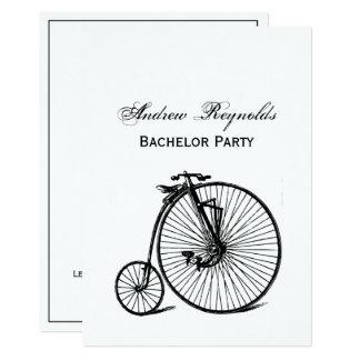 Vintages Velocipede-Fahrrad-Fahrrad Karte